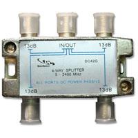DC42G * S02-04-KG 4WAY 2GHZ DC PASSING PCB SPLITTER