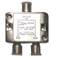 DC22G WRF23-03490 3A0001X 2WAY 2GHZ DC PASSING PCB SPLITTER