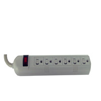 DCAC63E *WHITE DIRECTCONNECT AC ECONOMY SURGE PROTECTOR 6 OUTLET 3' CORD
