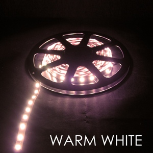 DCLEDWW-I-L-60-10X.5M * LEDBETTER LED WARM WHITE INDOOR LARGE 60/METER 10 X .5 METER TERMINATED - 2700K 1.2 AMP/METER MAX POWER