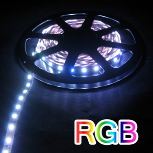 DCLEDRGB-I-L-60-10X.5M * LEDBETTER LARGE LED RGB INDOOR 60 LEDs PER METER 5 METER ROLL THAT IS SECTIONED EVERY HALF METER EACH END OF EACH SECTION IS TERMINATED FOR EASY CONNECT EASY DISCONNECT PER .5 METER 1.2 AMP/METER MAX POWER