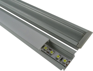 """DCLED12TRACK2M * LEDBETTER 2M LED 1/2"""" ALUMINUM PROFILE WITH FROSTED DIFFUSER, END CAPS, AND CLIPS"""
