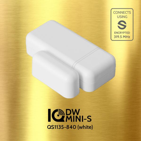 White Qolsys IQ Micro DW-S Ultra Compact Sensor QS1132-840