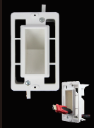 DCEC1GRVWB * WHITE DIRECTCONNECT EXISTING CONSTRUCTION 1 GANG RECESSED VERTICAL WALL BOX