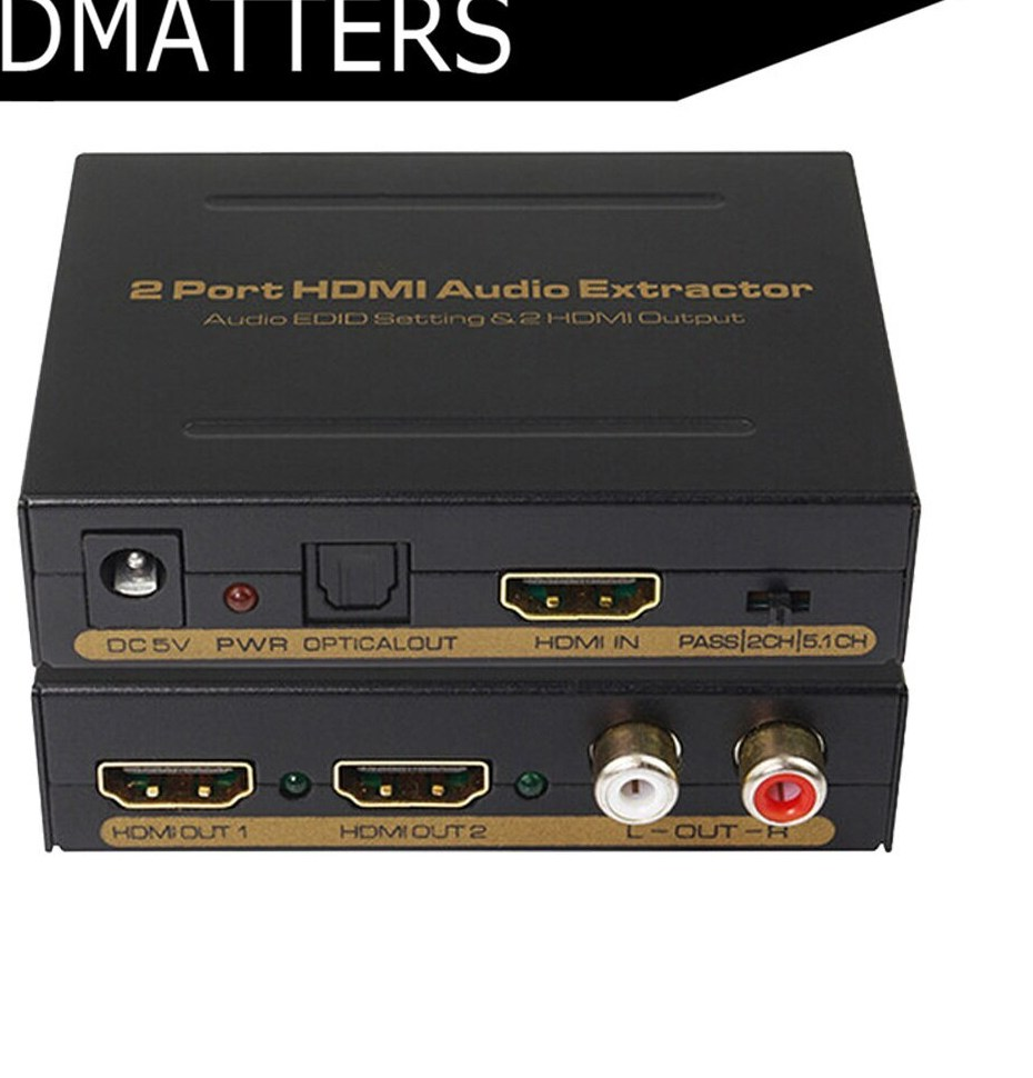 DCCVTHDMI-AUD * DIRECTCONNECT HDMI TO HDMI AUDIO EXTRACTOR R/L STEREO & DIGITAL 7.1 AUDIO OUTPUT HDCP 2.0